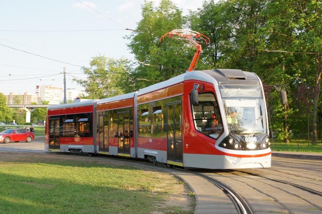 Новый трамвай Витязь